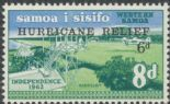 Samoa SG273 Hurricane Relief Fund 6d overprint on 8d Airport
